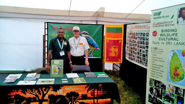 Alan Browne and David Barrans  at the Walk With Jith stand Bird Fair 2016.jpg