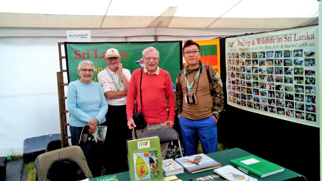 Betty, Alan, David and Jerry at Walk With Jith stand Bird Fair 2016