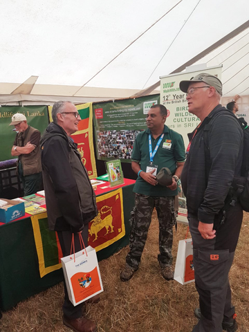 Jith with past guests - Jim and Brian - British Bird Fair
